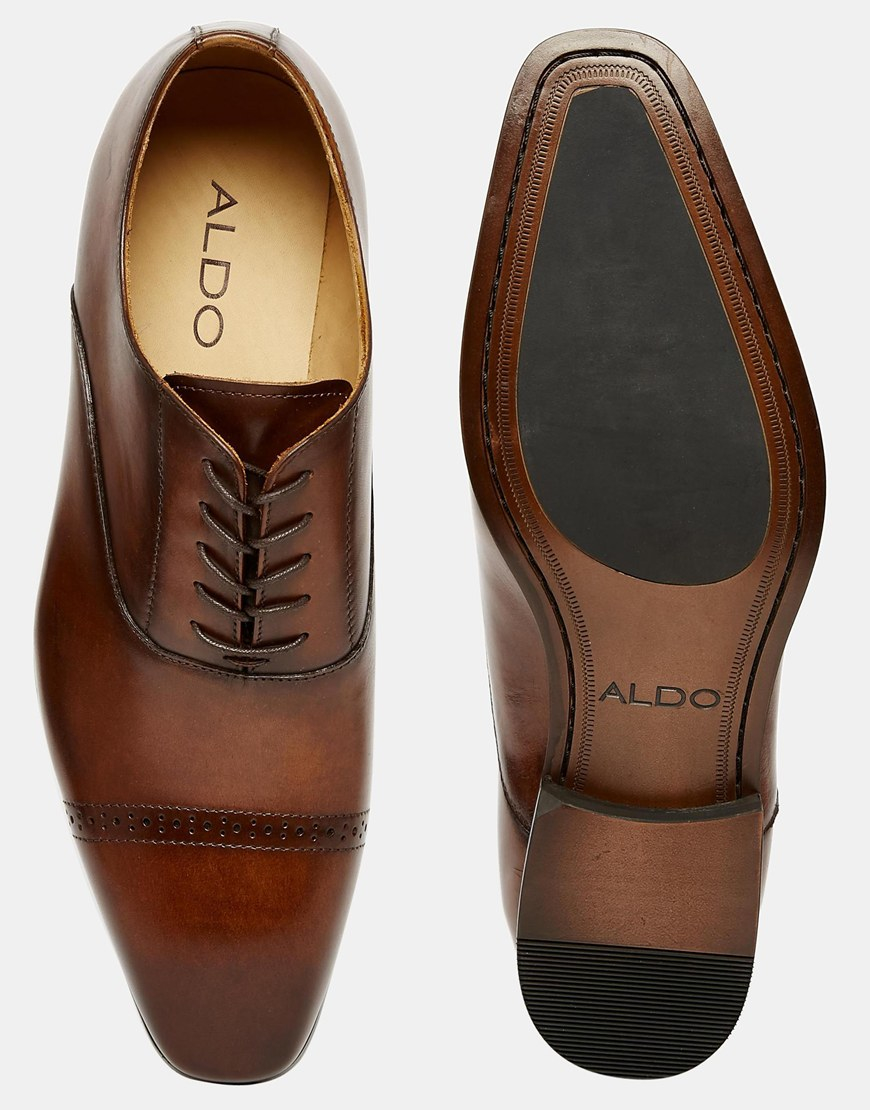 Lyst Aldo Welidama Leather Shoes In Brown For Men