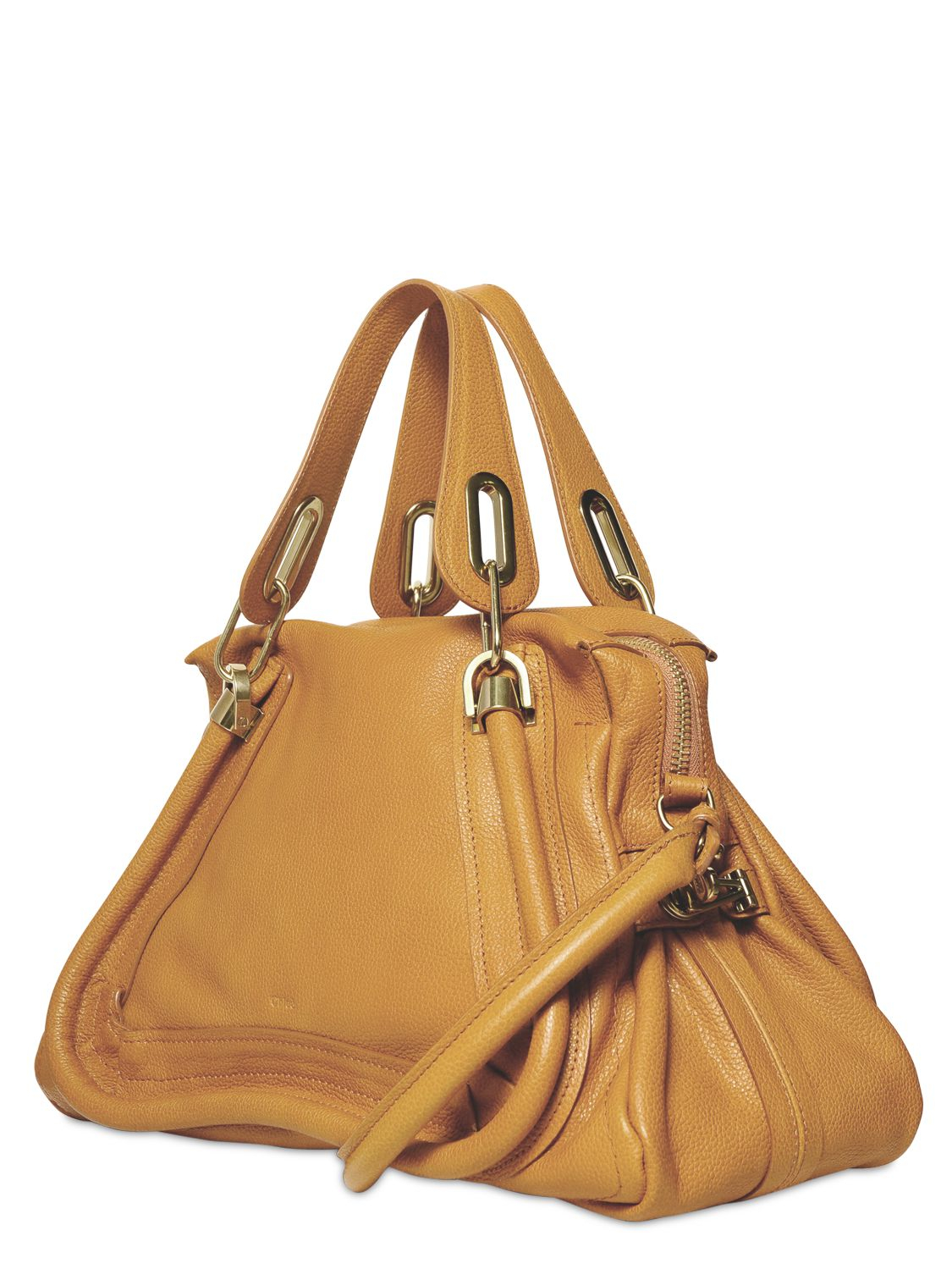 Chlo¨¦ Medium Paraty Grained Leather Bag in Yellow (yummy cookie ...