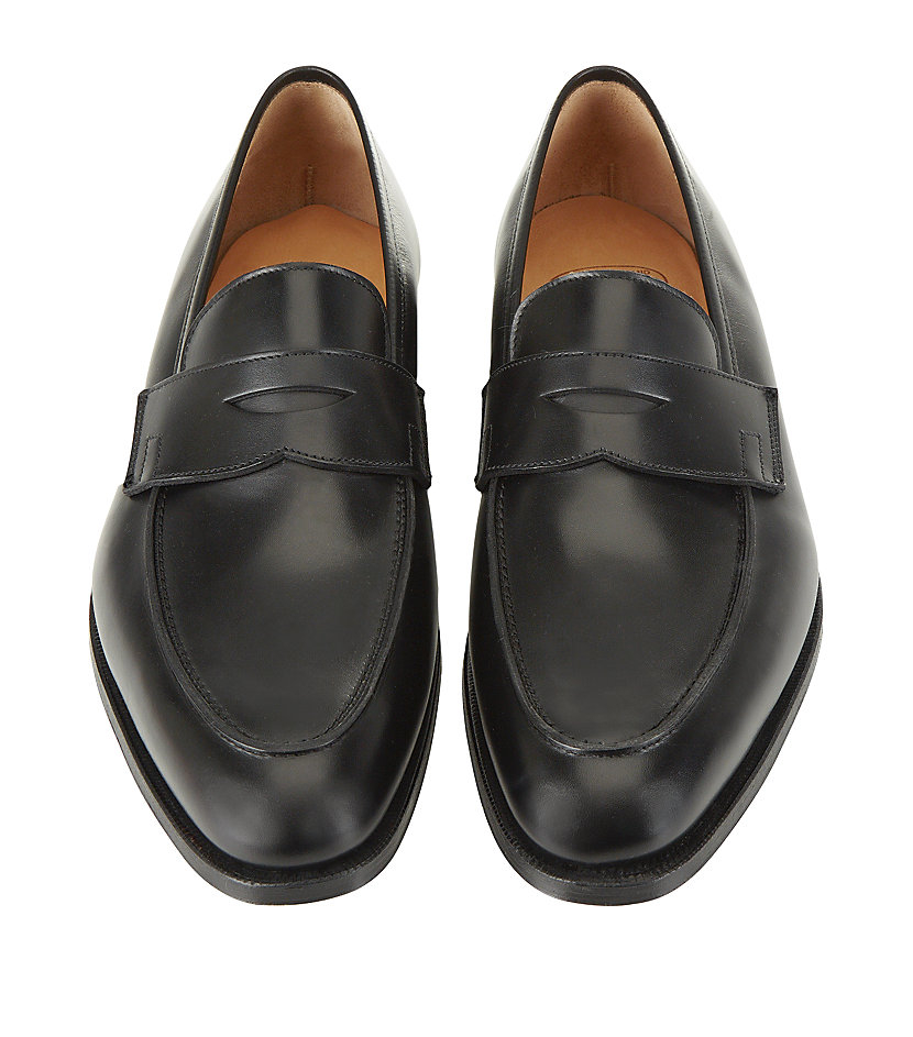 a1abfce90c7 Crockett and Jones Crawford Penny Loafer in Black for Men - Lyst