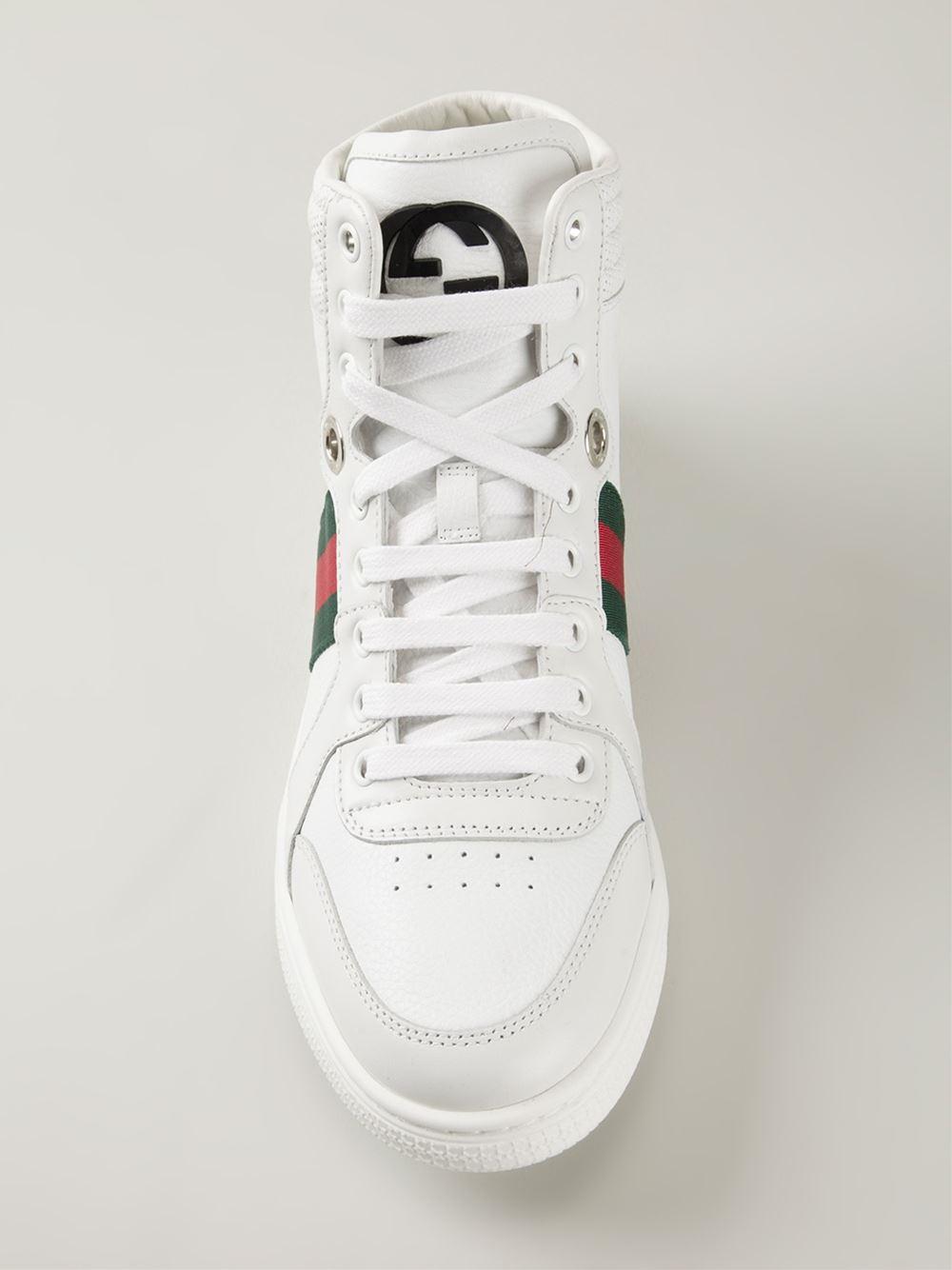 21a2a9b082c Lyst - Gucci  Coda  Hi-Top Sneakers in White