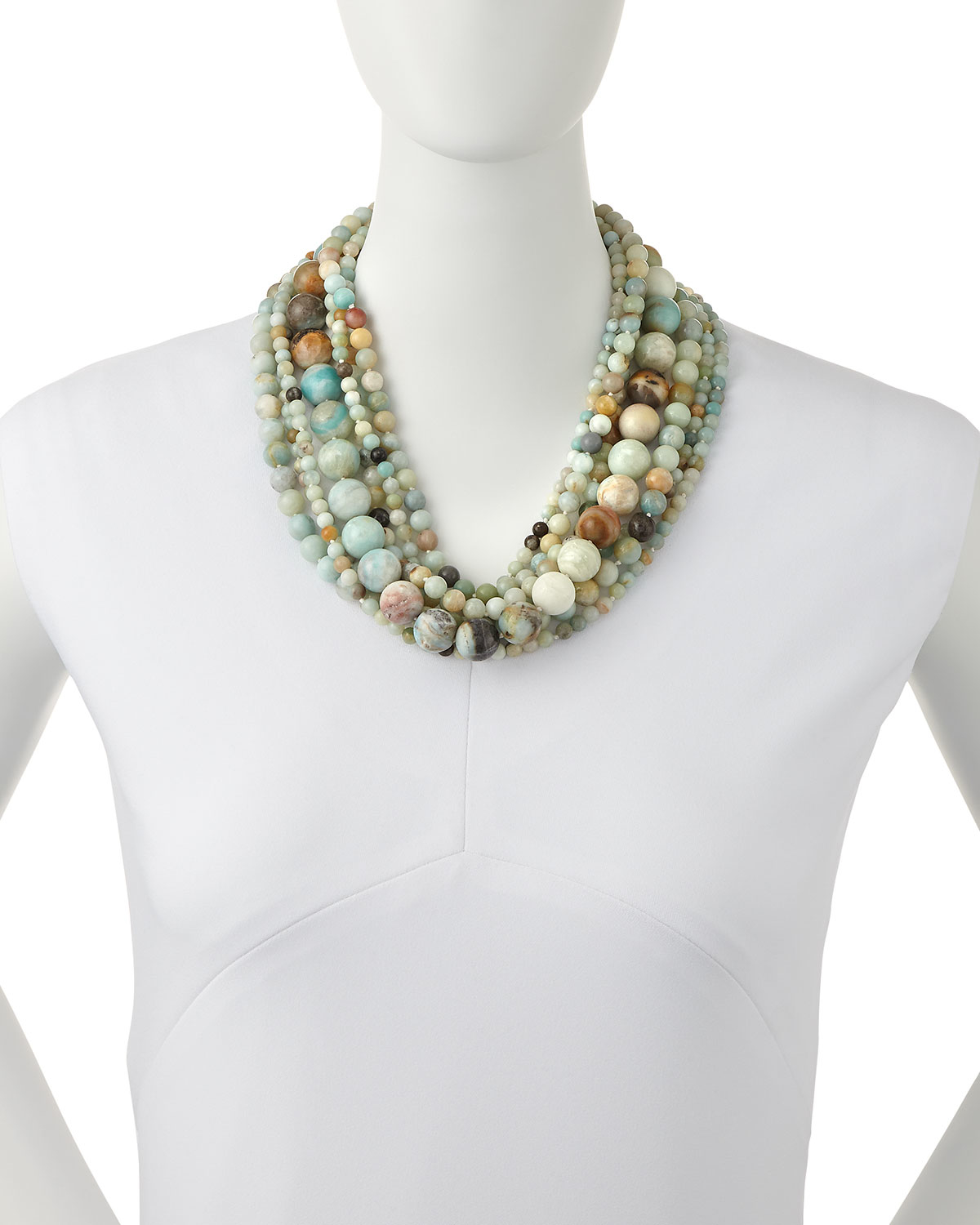 Kenneth Jay Lane Multi-Strand Pearly Bead Necklace KLYnP8