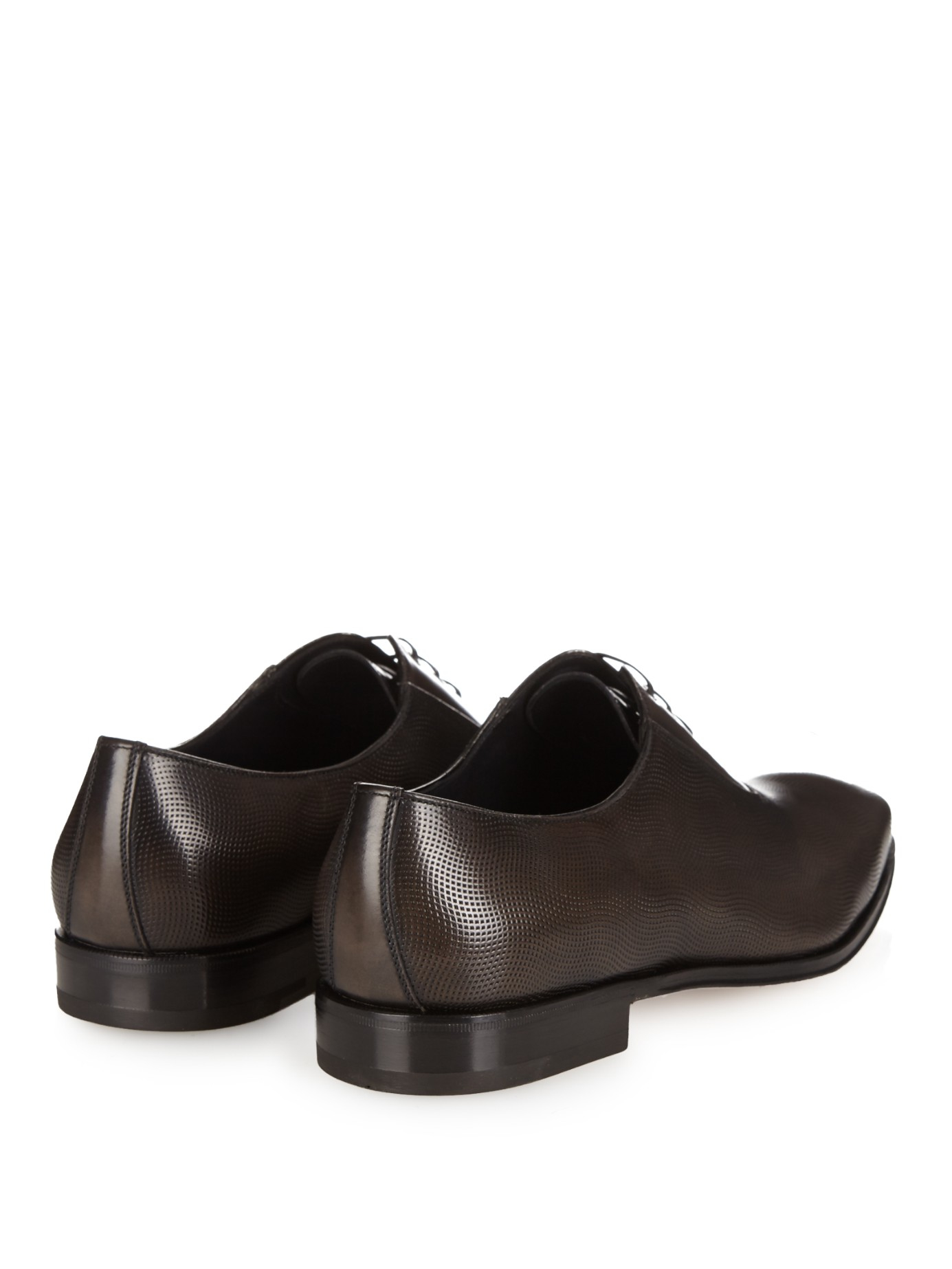 ferragamo nikol oxford leather shoes in black for lyst