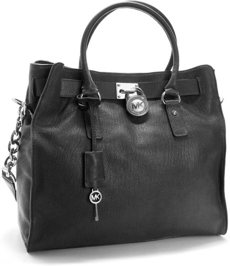 912c7996439d Michael Kors Black Bag With Silver Hardware | Stanford Center for ...