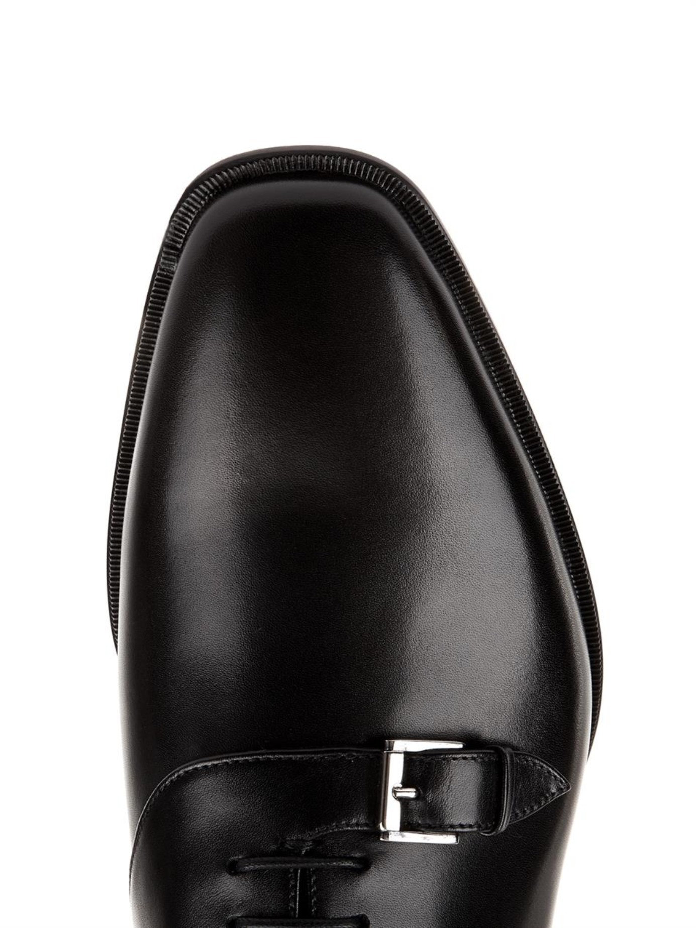 Christian louboutin Capri Leather Derby Shoes in Black for Men | Lyst