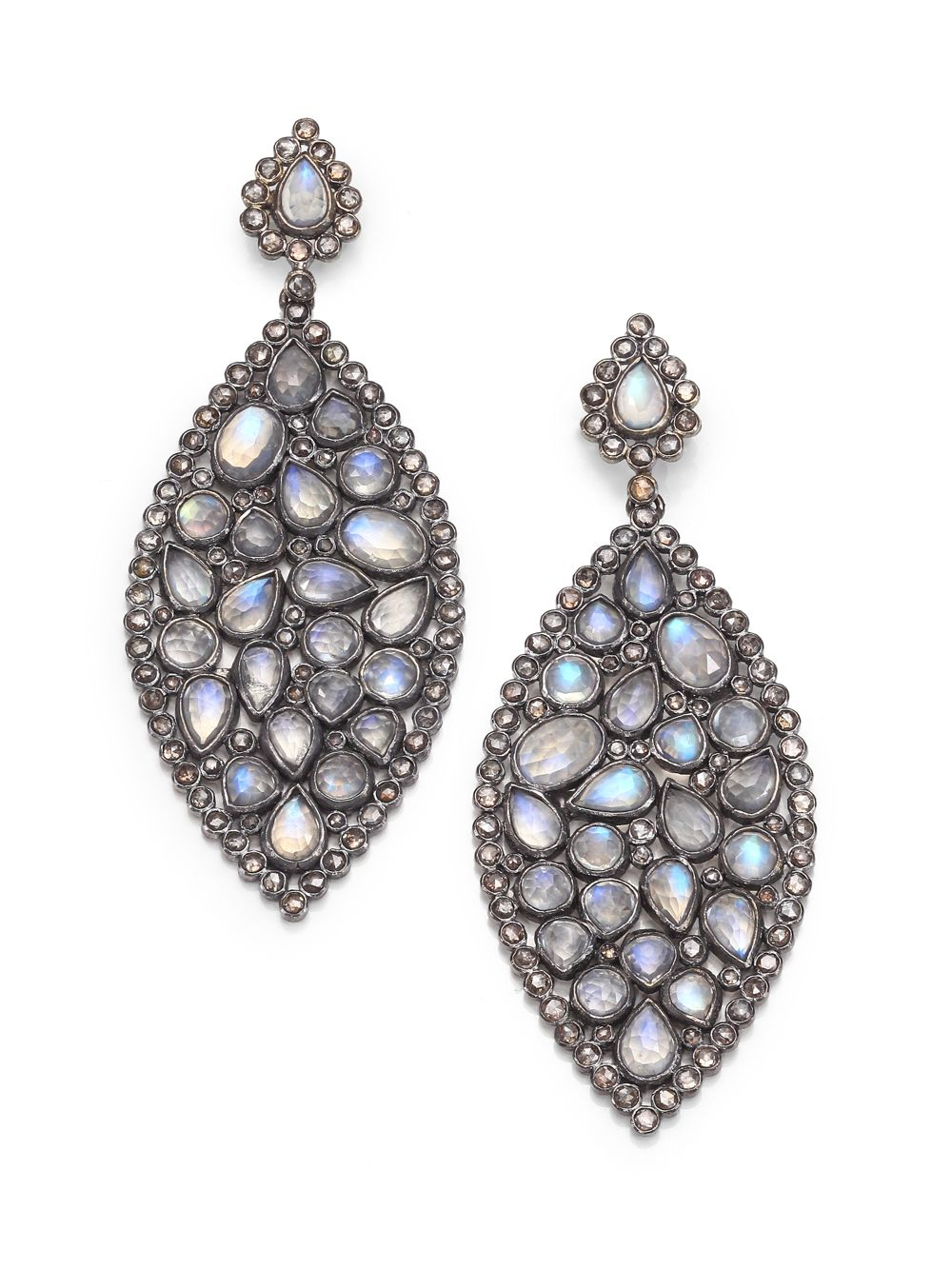 bavna champagne diamond rainbow moonstone sterling silver. Black Bedroom Furniture Sets. Home Design Ideas