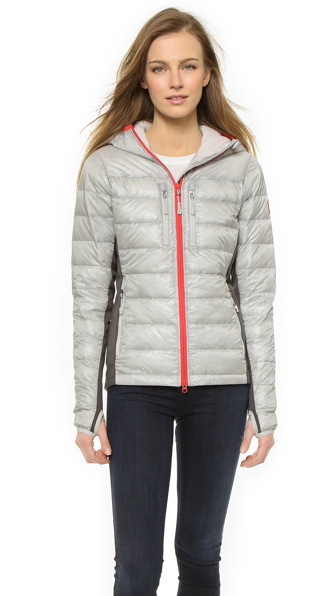 9ffaece171b ... coupon code for canada goose hybridge lite hooded jacket silverbirch  torch in 1de81 a7d52
