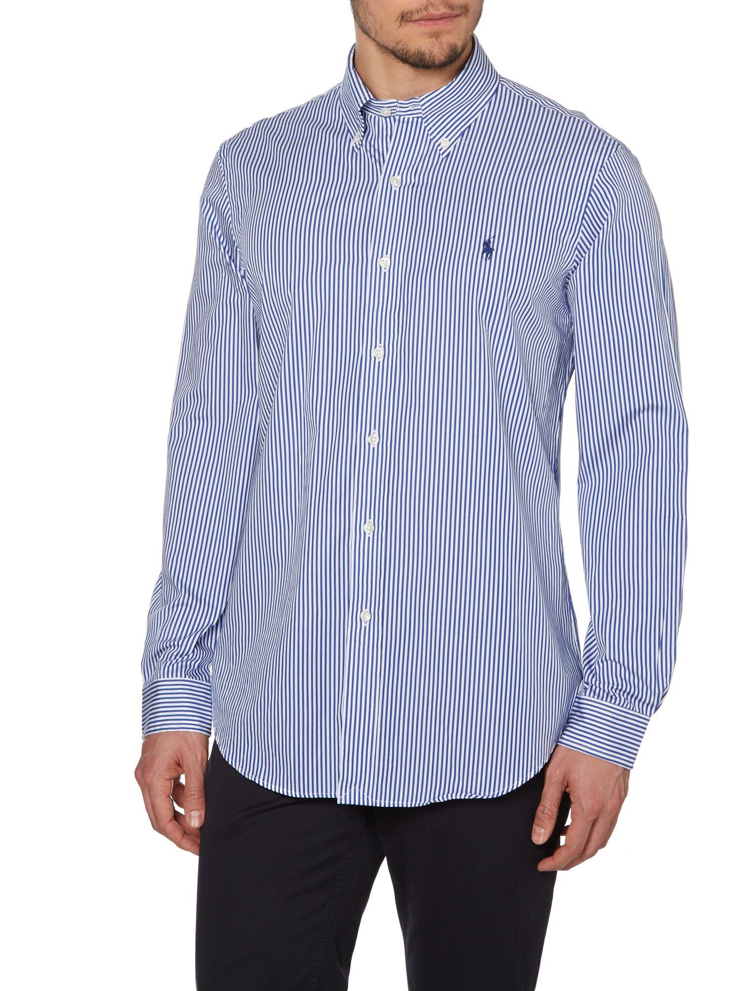 Polo Ralph Lauren Long Sleeve Button Down Collar Shirt In