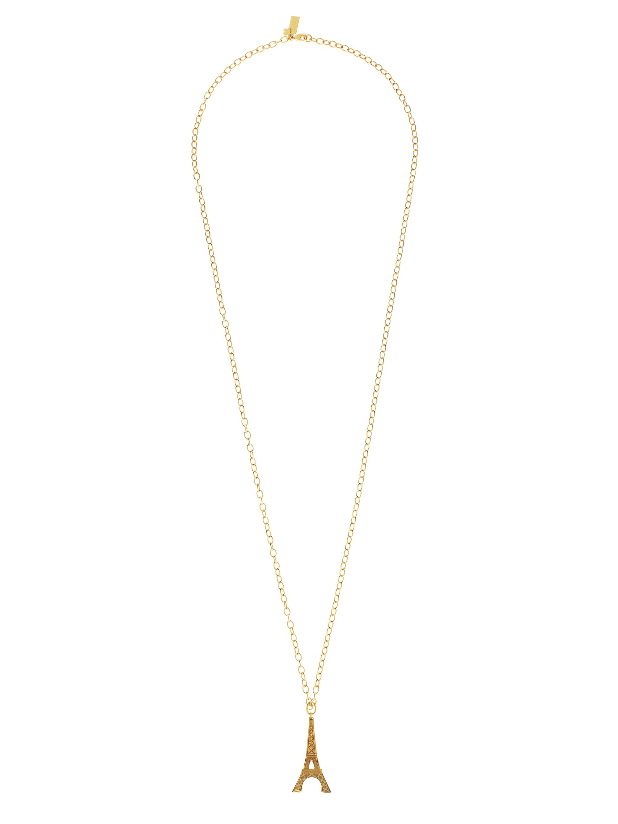 Lyst kate spade new york eiffel tower tower pendant in metallic gallery aloadofball Image collections