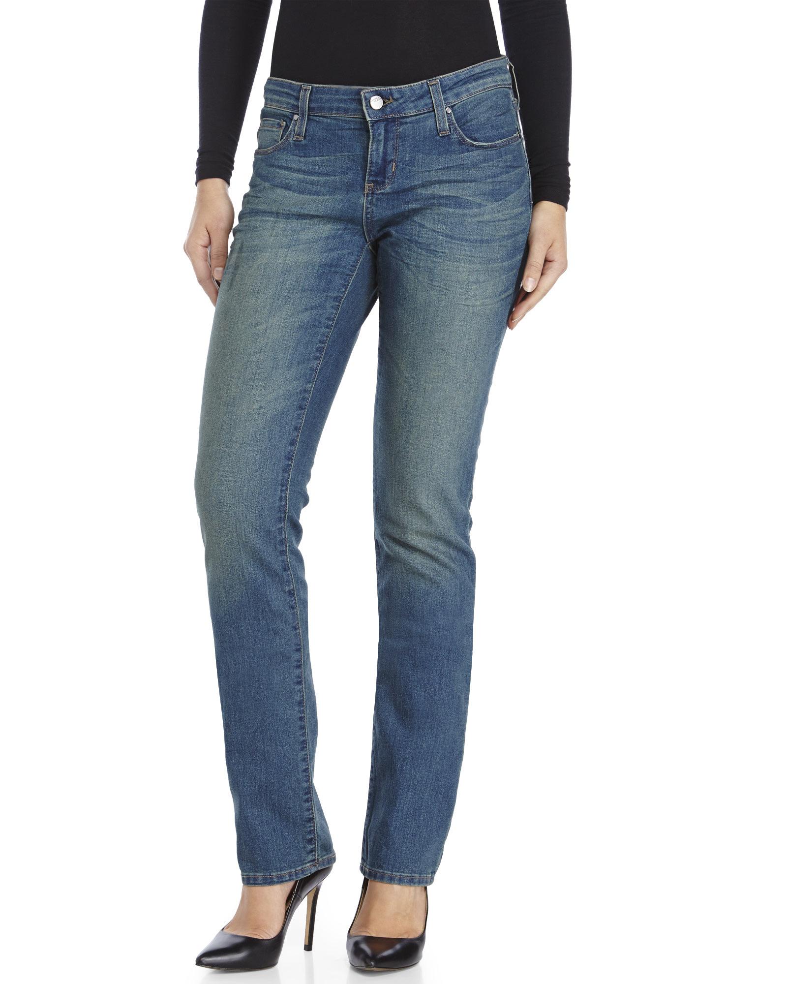 Dkny Curvy Skinny Jeans in Blue | Lyst