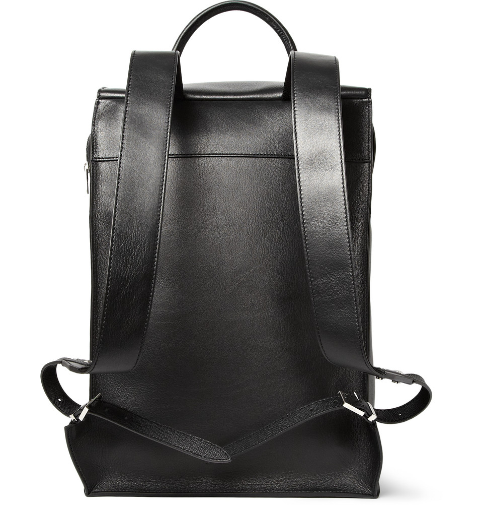 Lyst - Balenciaga Semistructured Leather Backpack in Black for Men