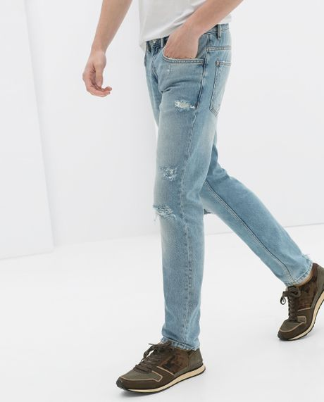 Badr Hari wears Ripped (Denim Jeans )