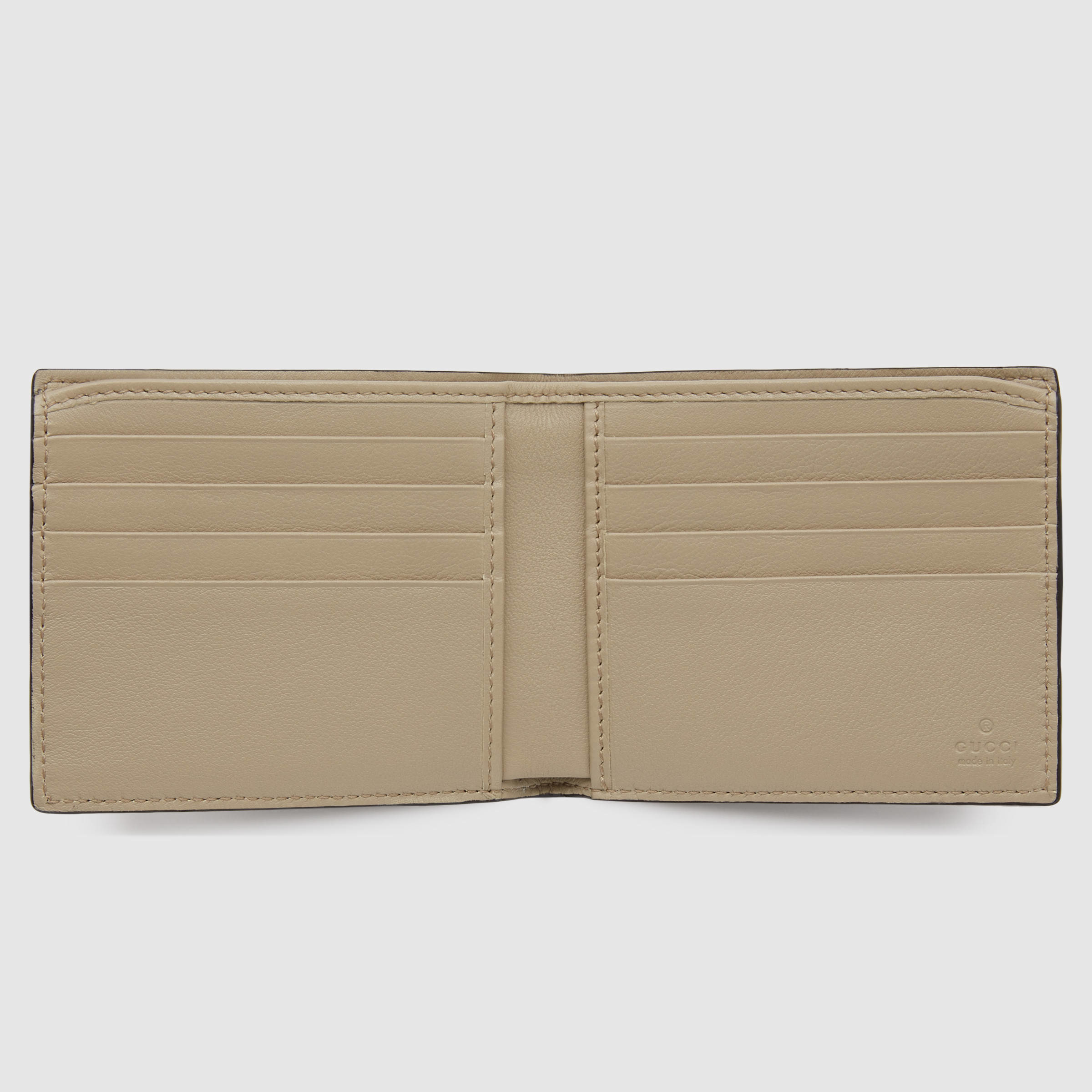 c479336f8ca7 Gucci Ayers Snakeskin Bi-fold Wallet in Natural for Men - Lyst