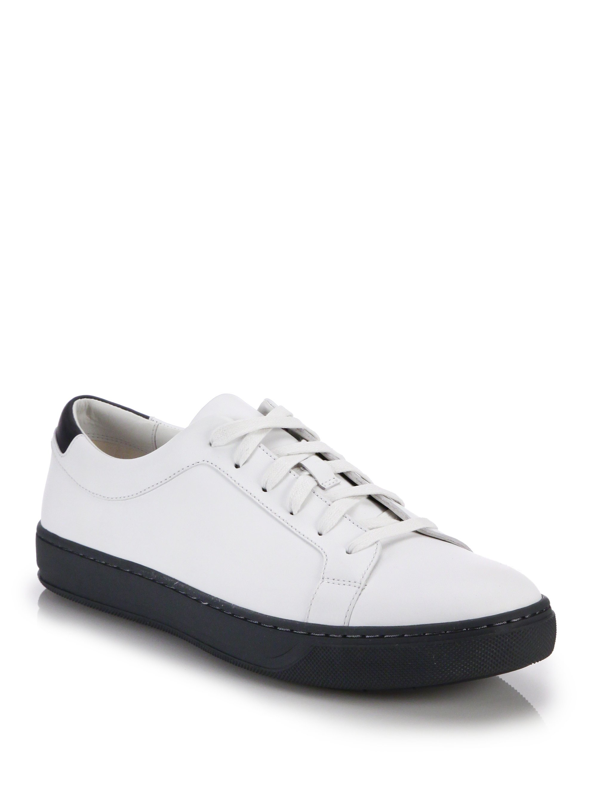 Lyst Vince Astor Leather Sneakers In White For Men