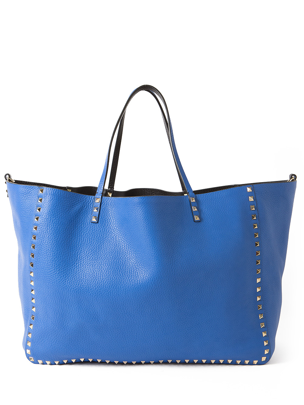 bee1c0105b Valentino Reversible Rockstud Tote in Blue - Lyst