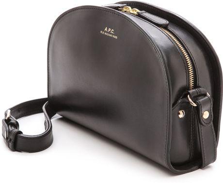 a p c half moon bag black in black lyst. Black Bedroom Furniture Sets. Home Design Ideas