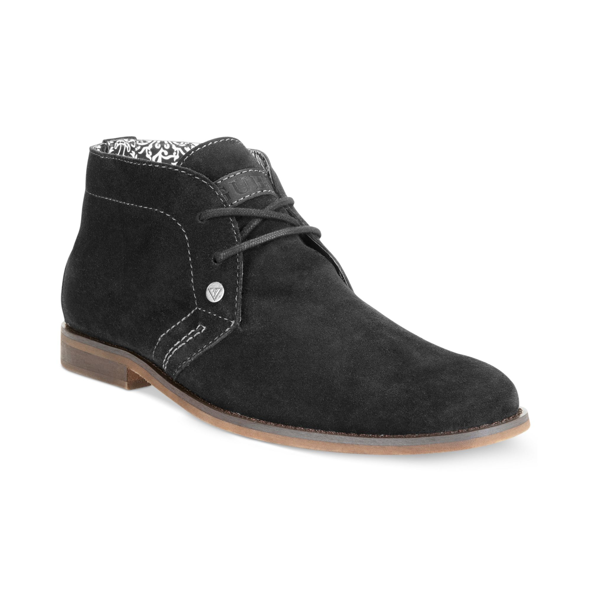 Guess Mens Shoes Hayden Chukka Boots in Brown for Men ...