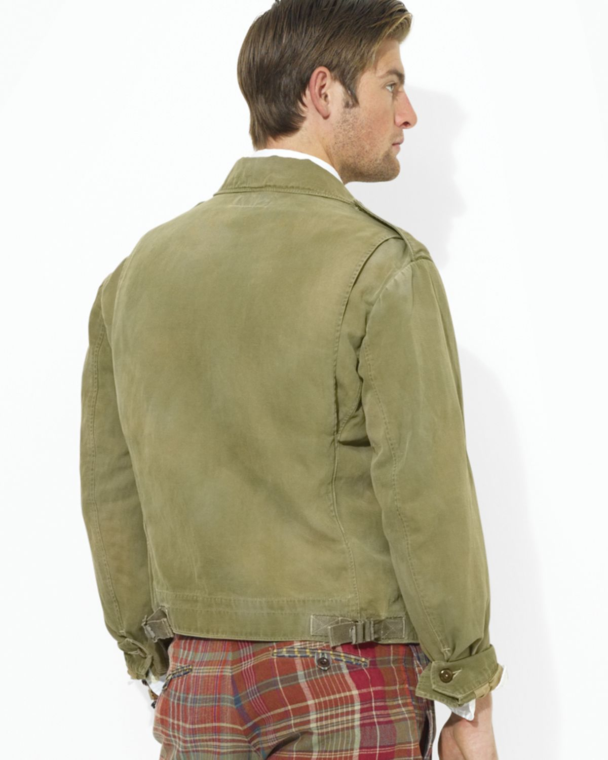 Ralph lauren Polo Chino Flight Jacket in Green for Men | Lyst