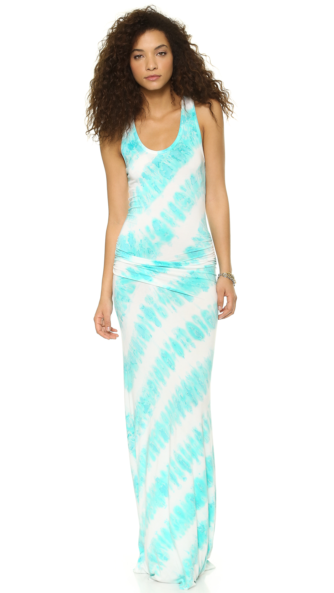 Young fabulous &amp- broke Hamptons Maxi Dress Aqua in Blue - Lyst