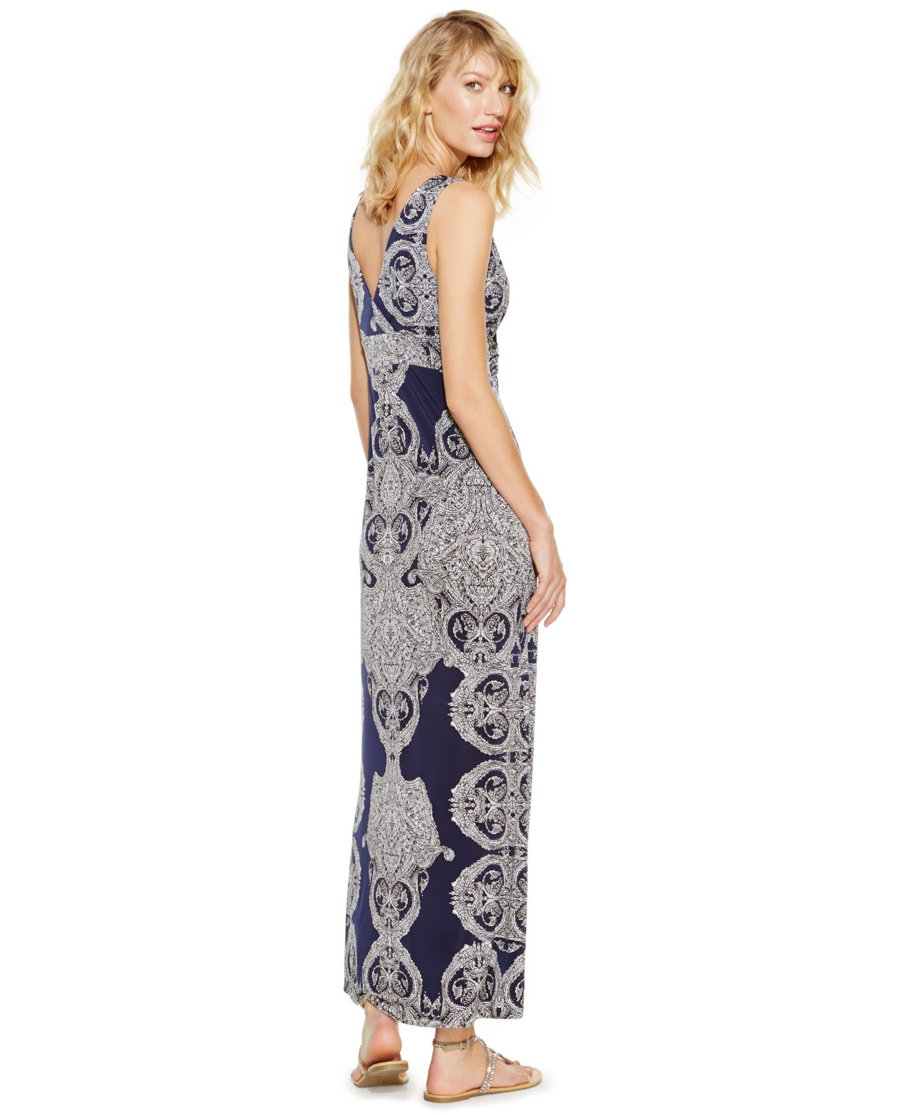 Inc international concepts Petite Printed Empire-waist Maxi Dress ...