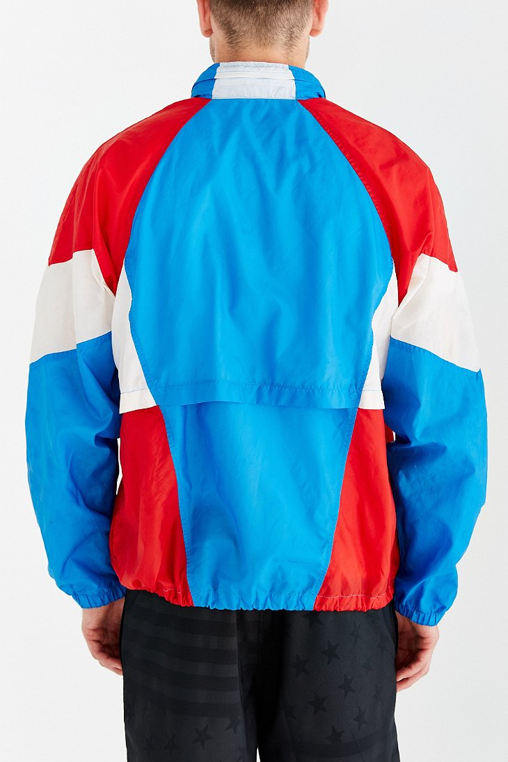ccc61e63dd2c Lyst - Without Walls Vintage Nike Red White + Blue Windbreaker ...