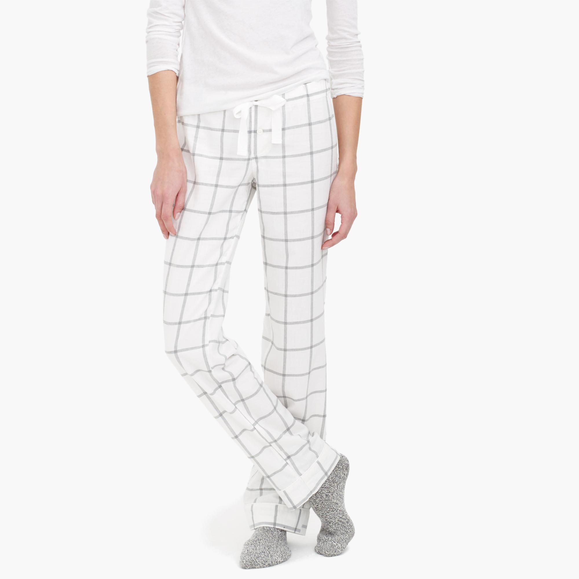 1df7aadca033 Lyst - J.Crew Windowpane Plaid Flannel Pajama Pant in Gray