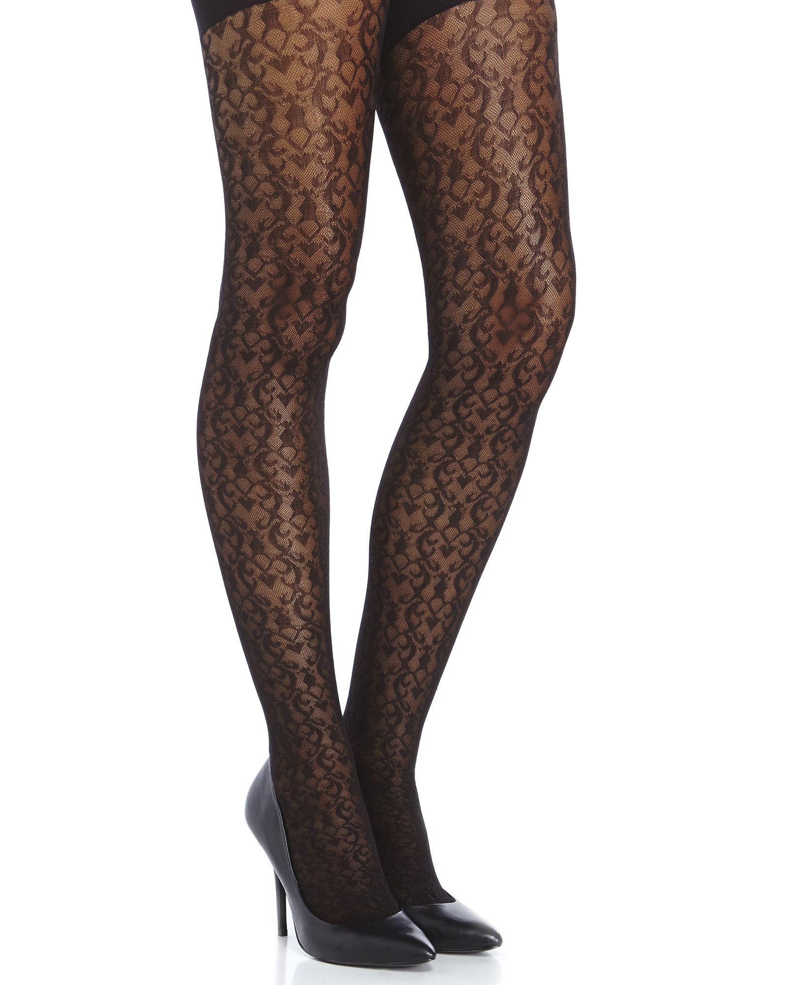 914abcc2486ac Spanx Black Filagree Patterned Tight-End Tights in Black - Lyst
