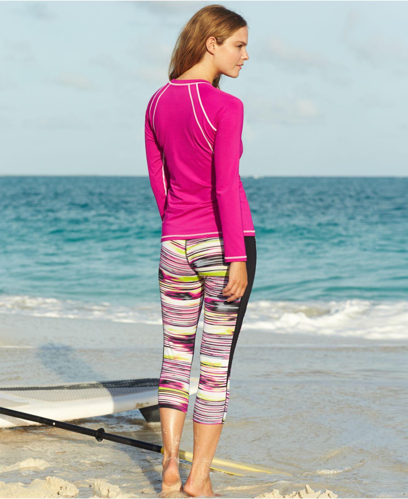 7b8ad174c1 Nike Long-sleeve Logo Rashguard in Pink - Lyst