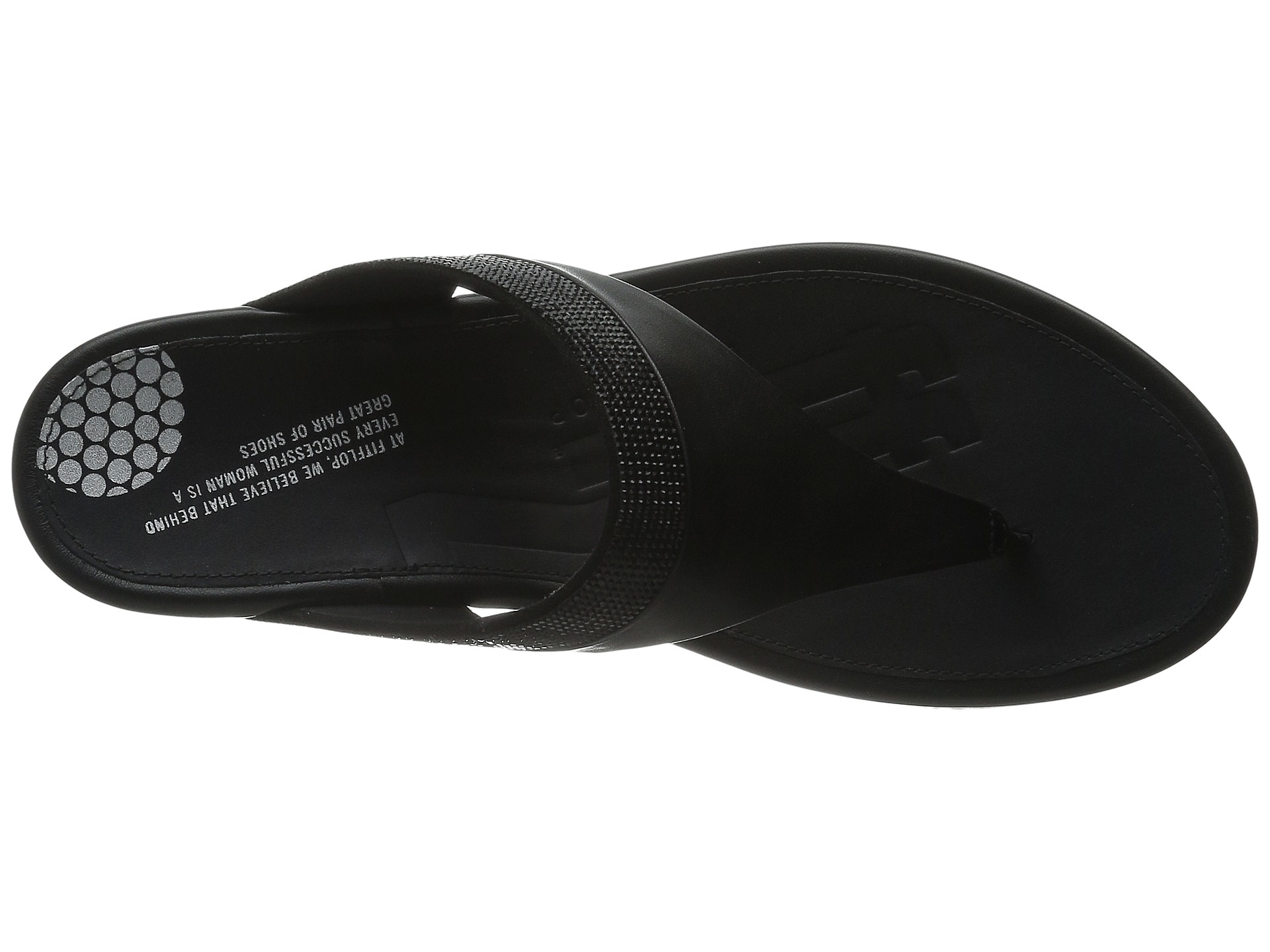 83b5c66d18ed3d Lyst - Fitflop Banda Micro-crystal Toe Post™ in Black