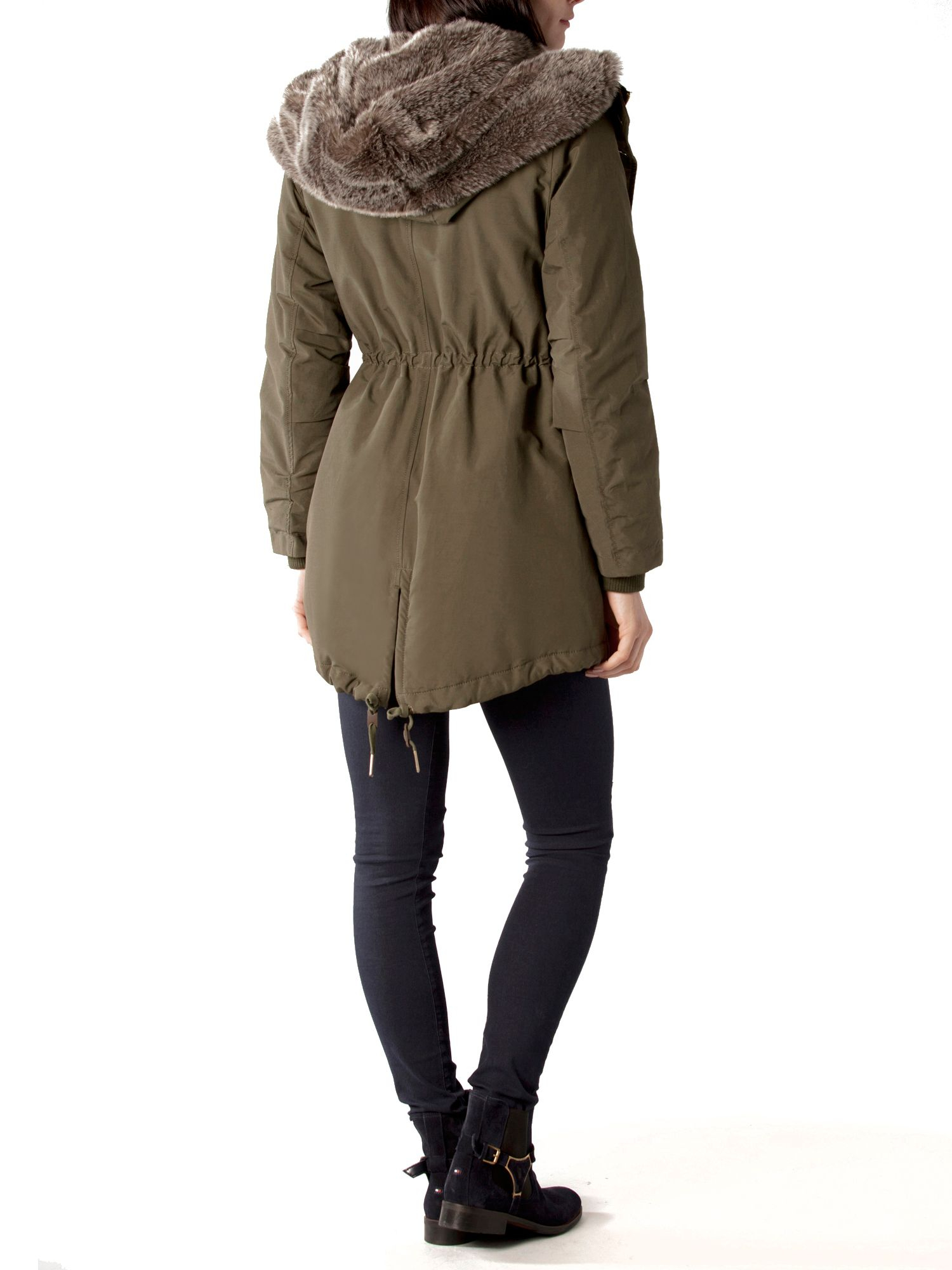 Tommy Hilfiger Yasmin Quilted Parka In Green Lyst