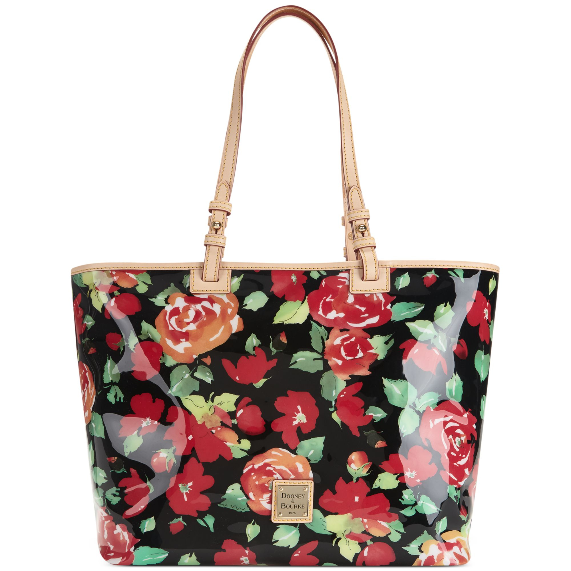 08b6a0d59a Lyst - Dooney   Bourke Floral Leisure Shopper in Black