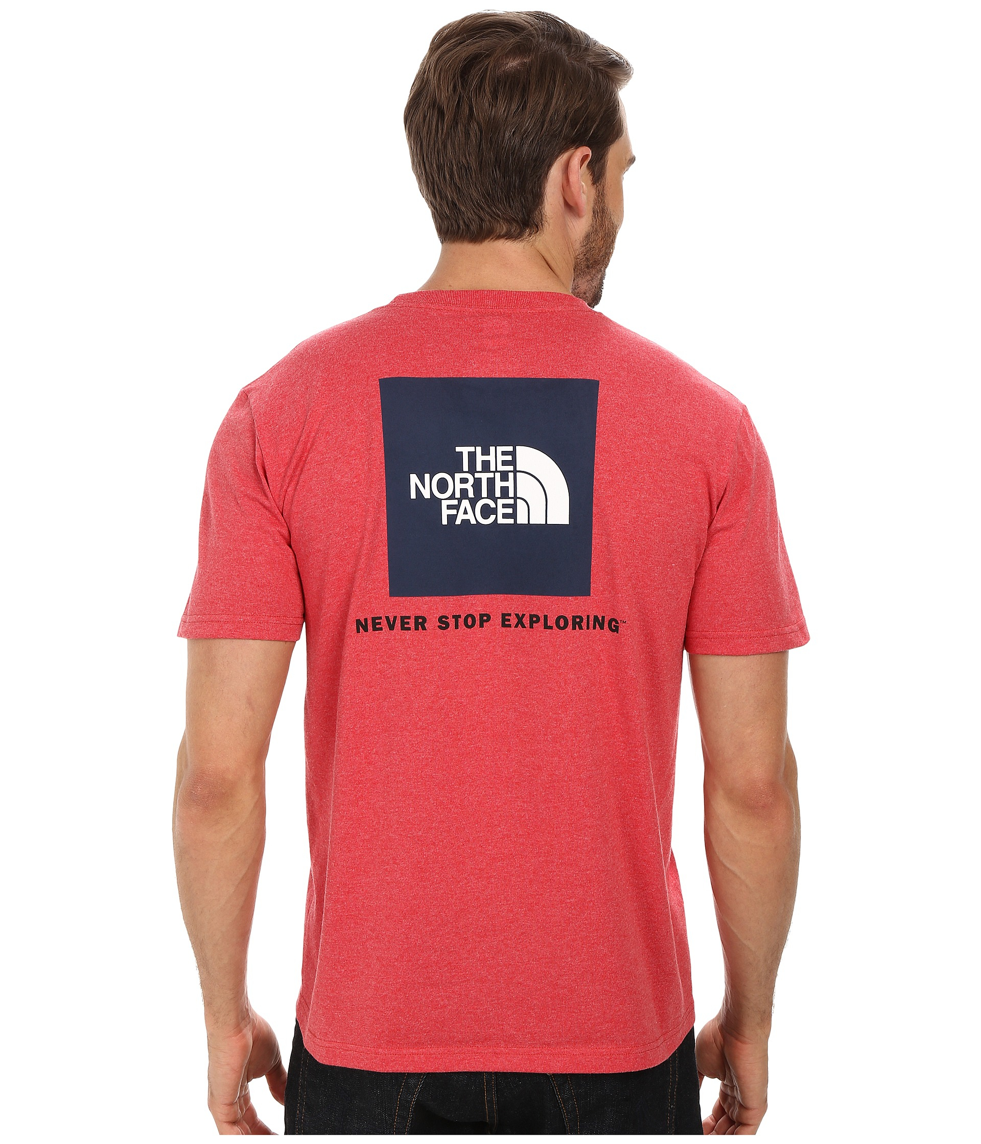 lyst the north face s s red box tee in red. Black Bedroom Furniture Sets. Home Design Ideas