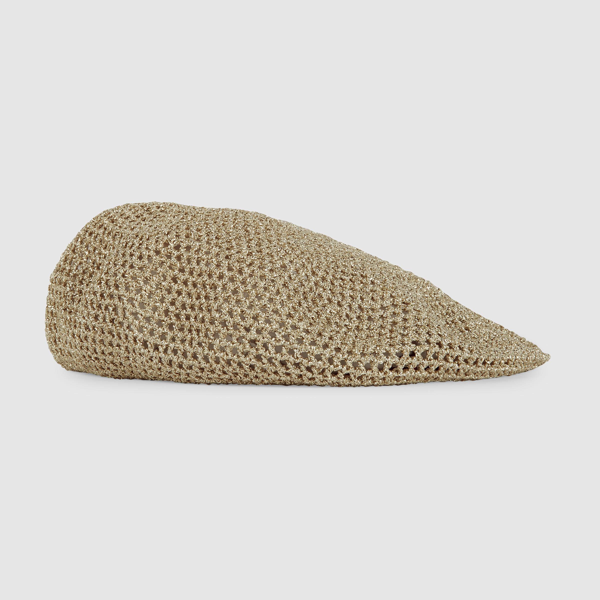 0e68617dd581f Gucci Knit Lurex Hat in Metallic - Lyst