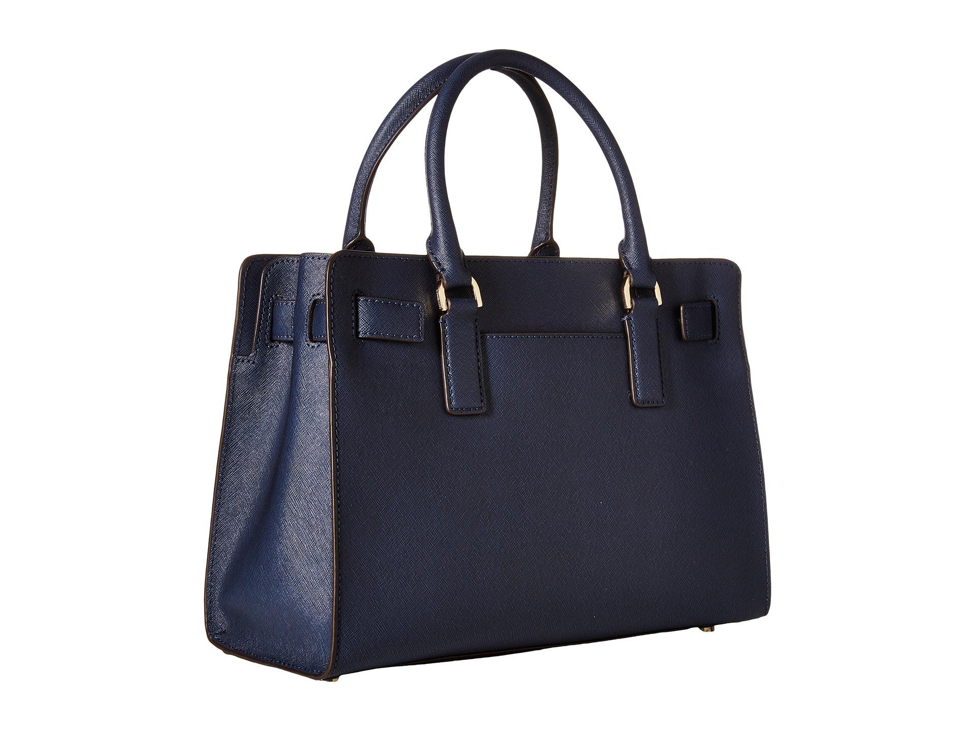 d4068a77cd1f ... discount code for lyst michael michael kors dillon top zip east west  satchel in blue b6899