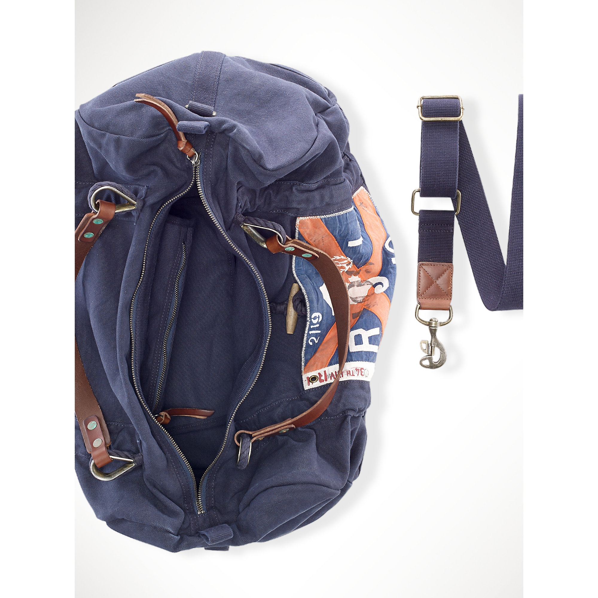 04cf8801a1ae ... amazon lyst polo ralph lauren sailing rope duffel in blue for men 1f9b3  eb57e