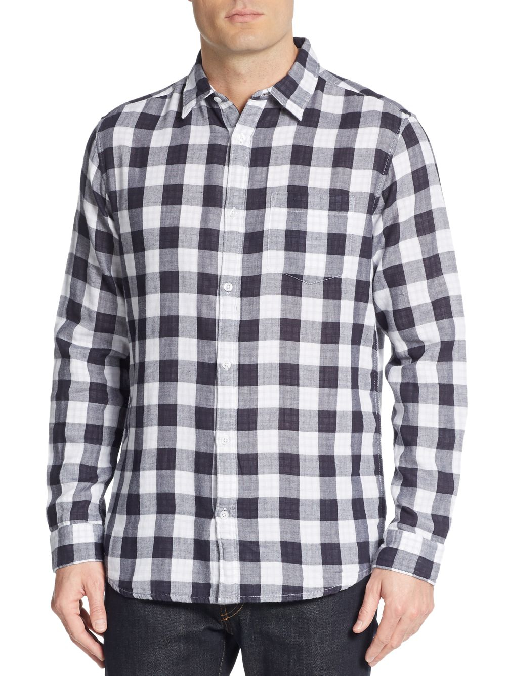 Lyst Saks Fifth Avenue Slim Fit Double Face Gingham