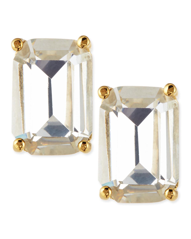 Lyst Kate Spade New York Emerald Cut Crystal Earrings