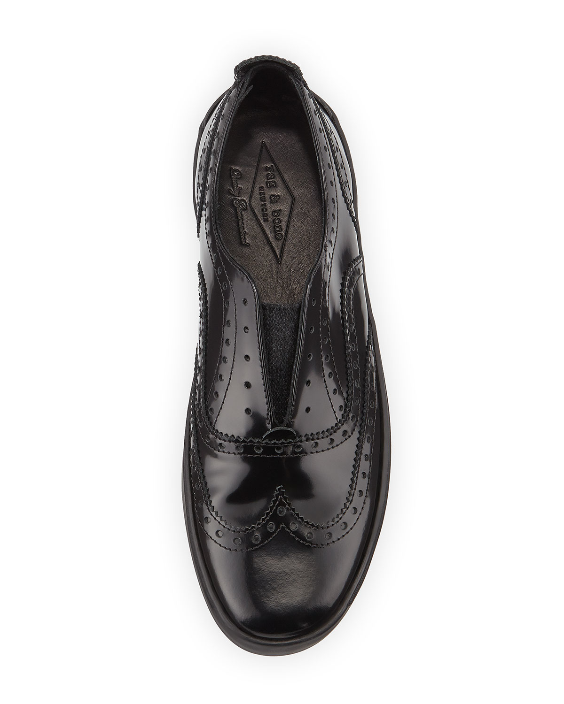 Lyst Rag Amp Bone Meli Oxford Slip On Sneakers In Black