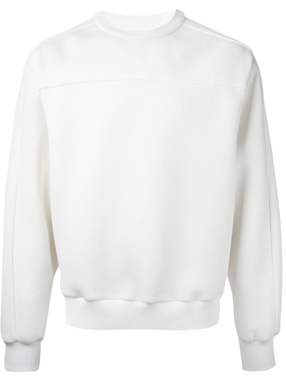 Juun.j Plain And Ribbed Sweatshirt in White for Men