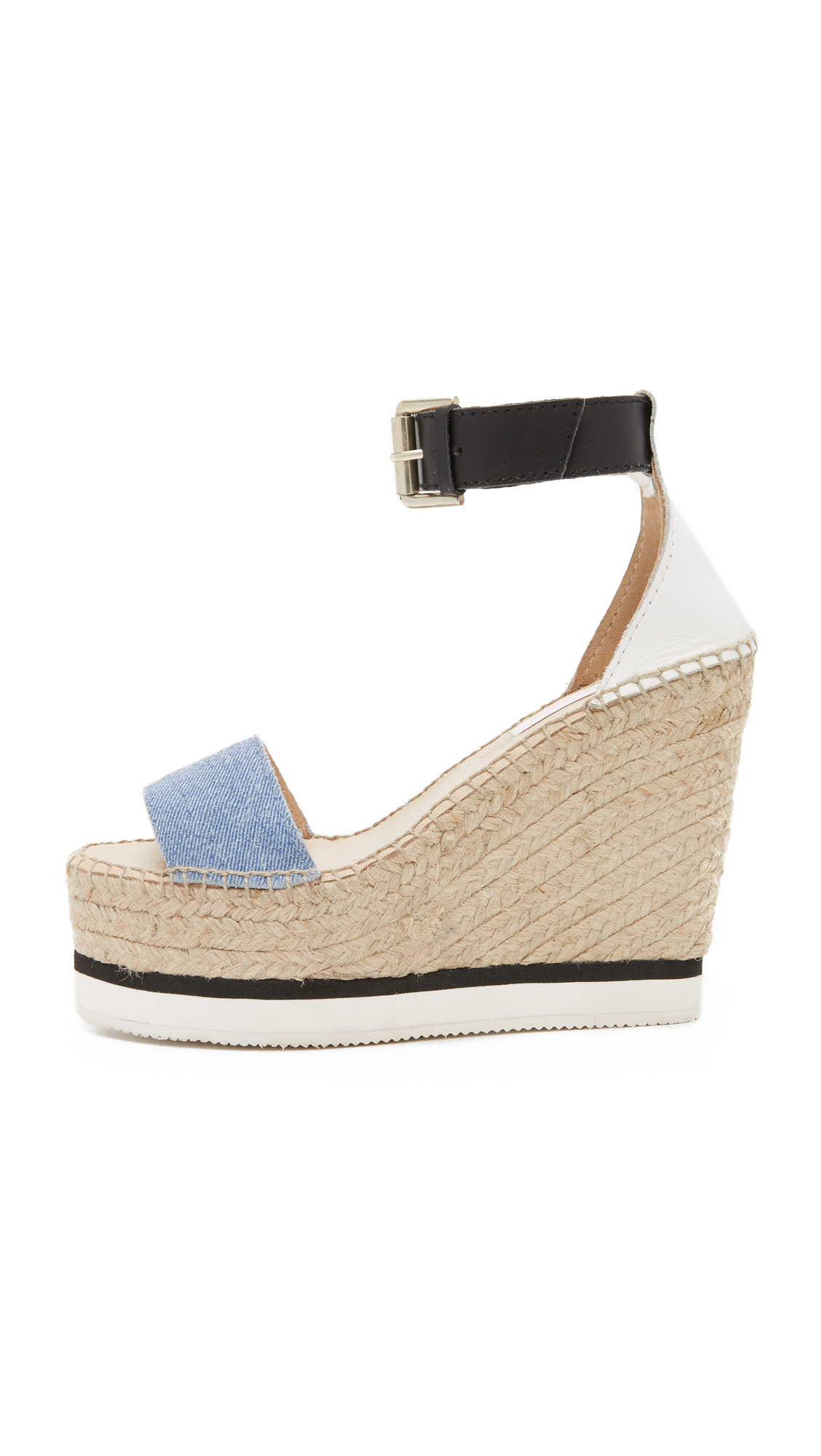 ad148972282e Lyst - See By Chloé Glyn Espadrille Wedge Sandals in Blue