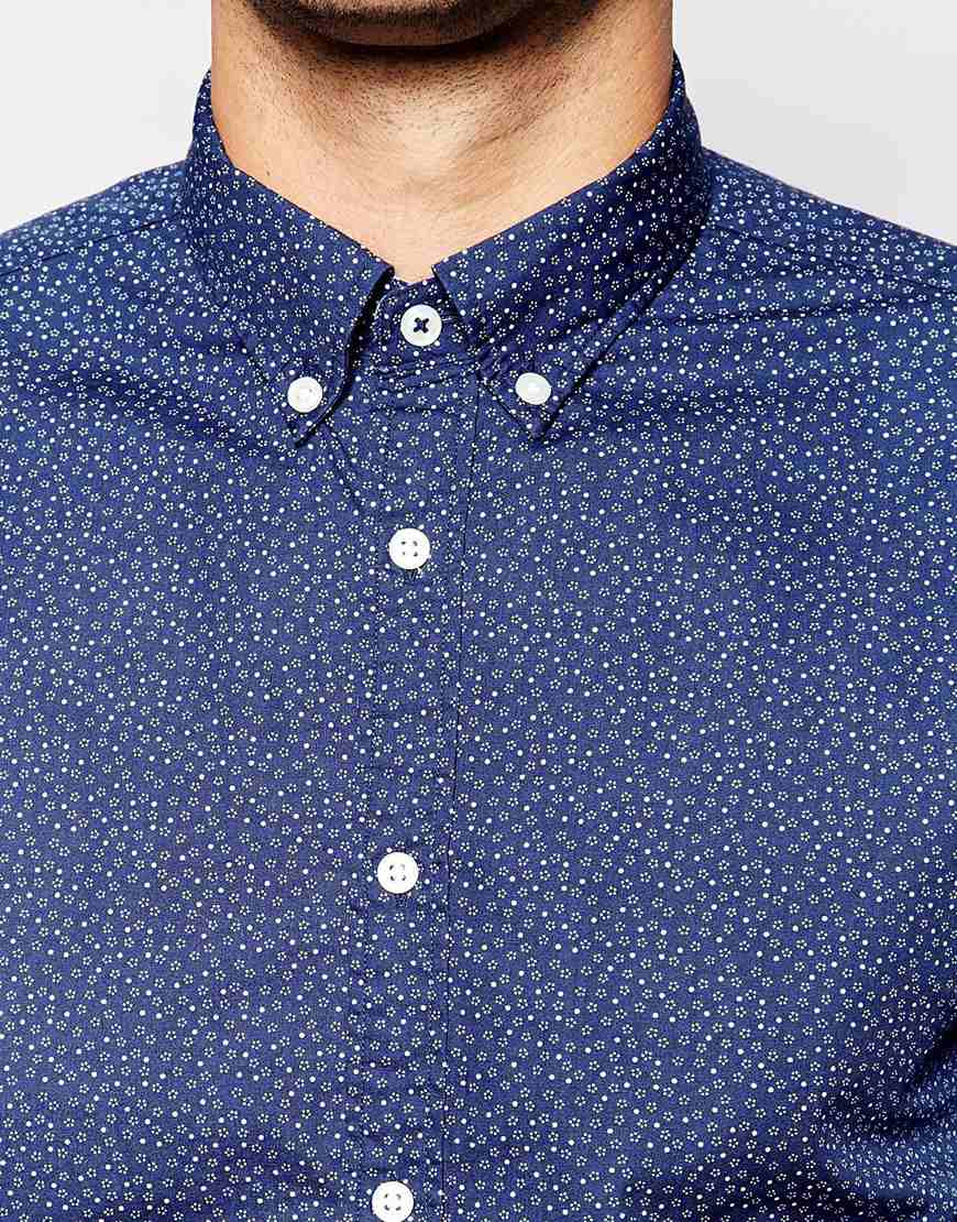 Lyst tommy hilfiger shirt with ditsy floral print for Print a photo on at shirt