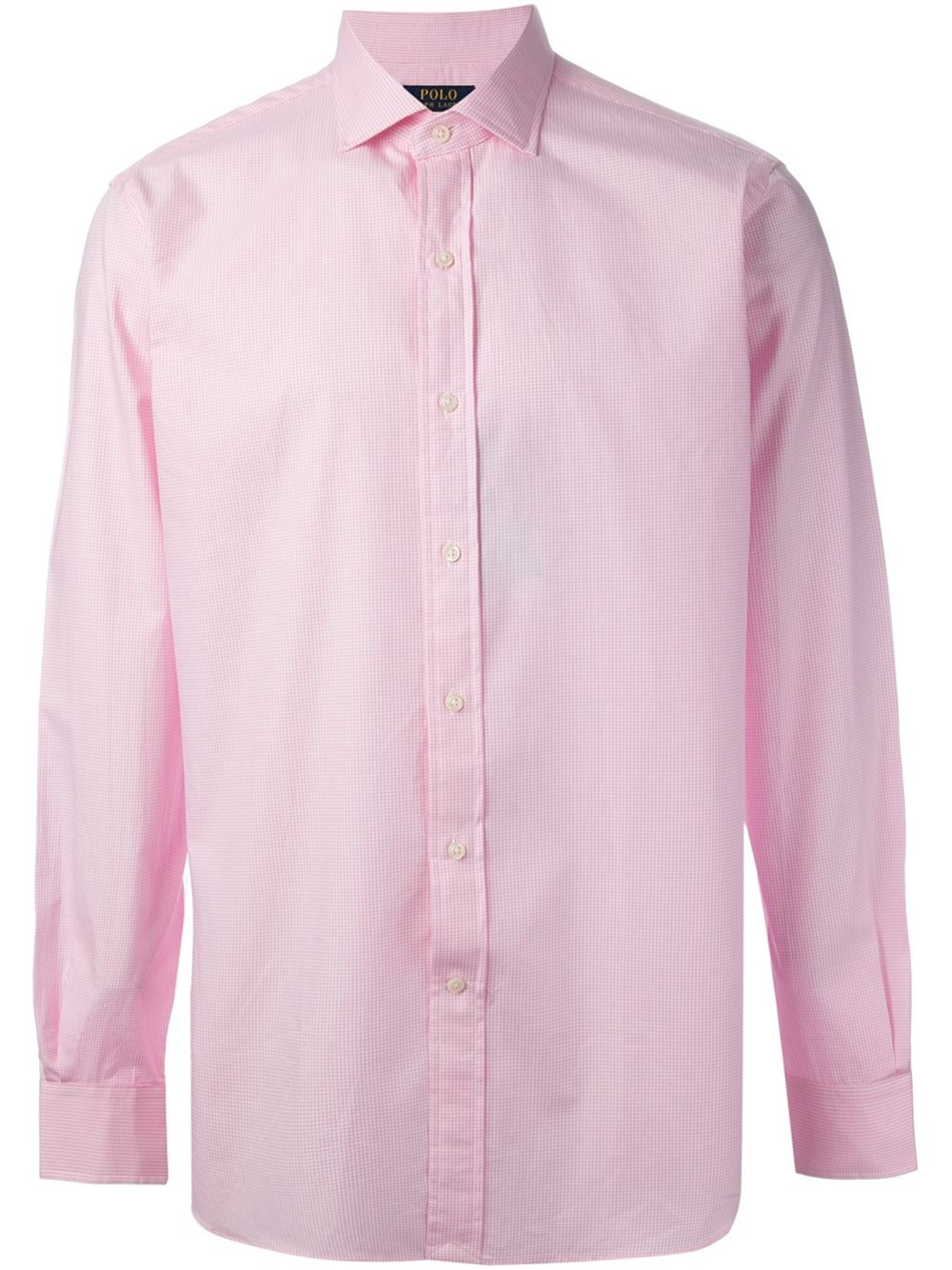 Polo Ralph Lauren Check Print Shirt In Pink For Men Pink
