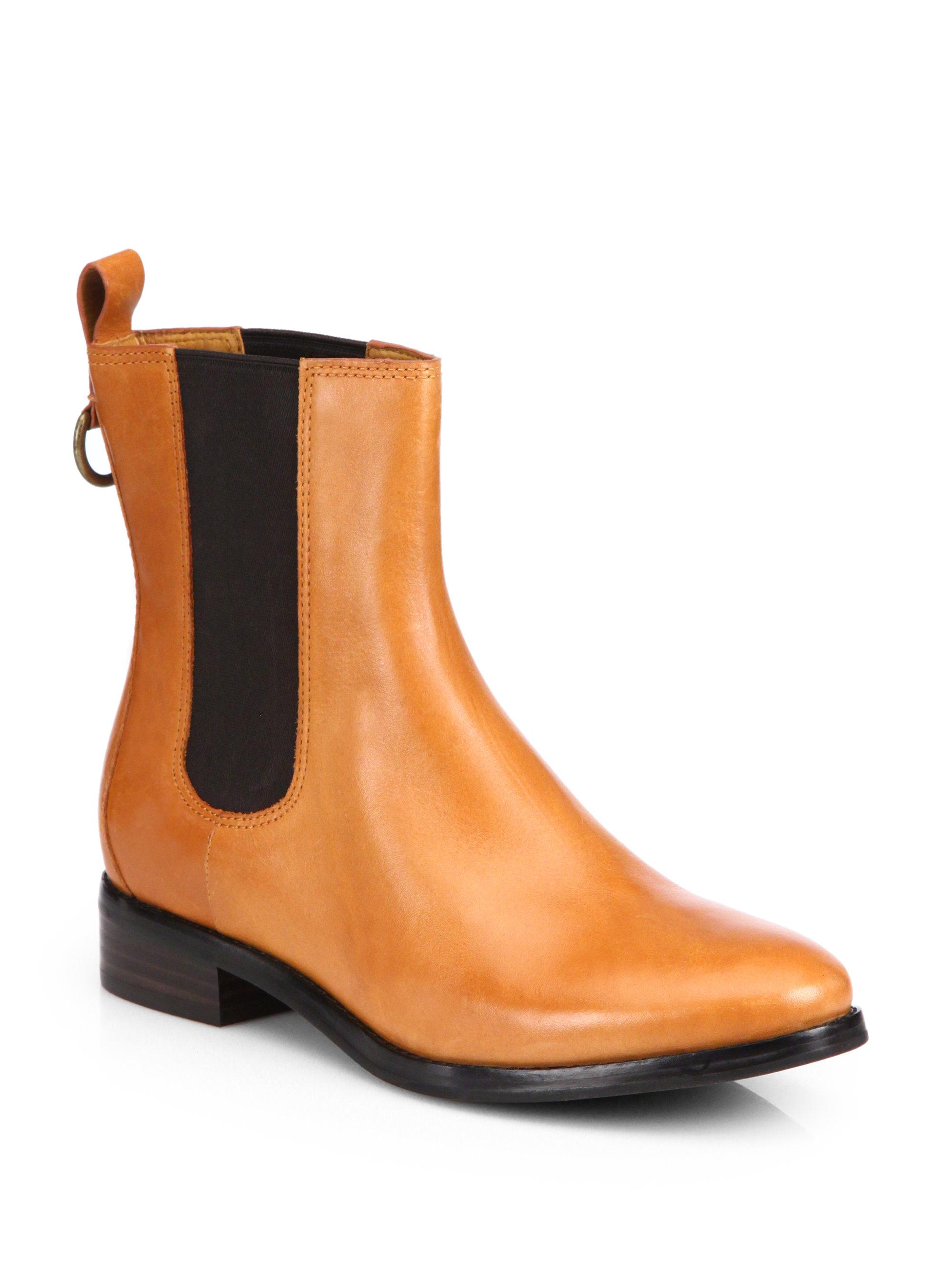 cole haan evan waterproof leather ankle boots in brown lyst