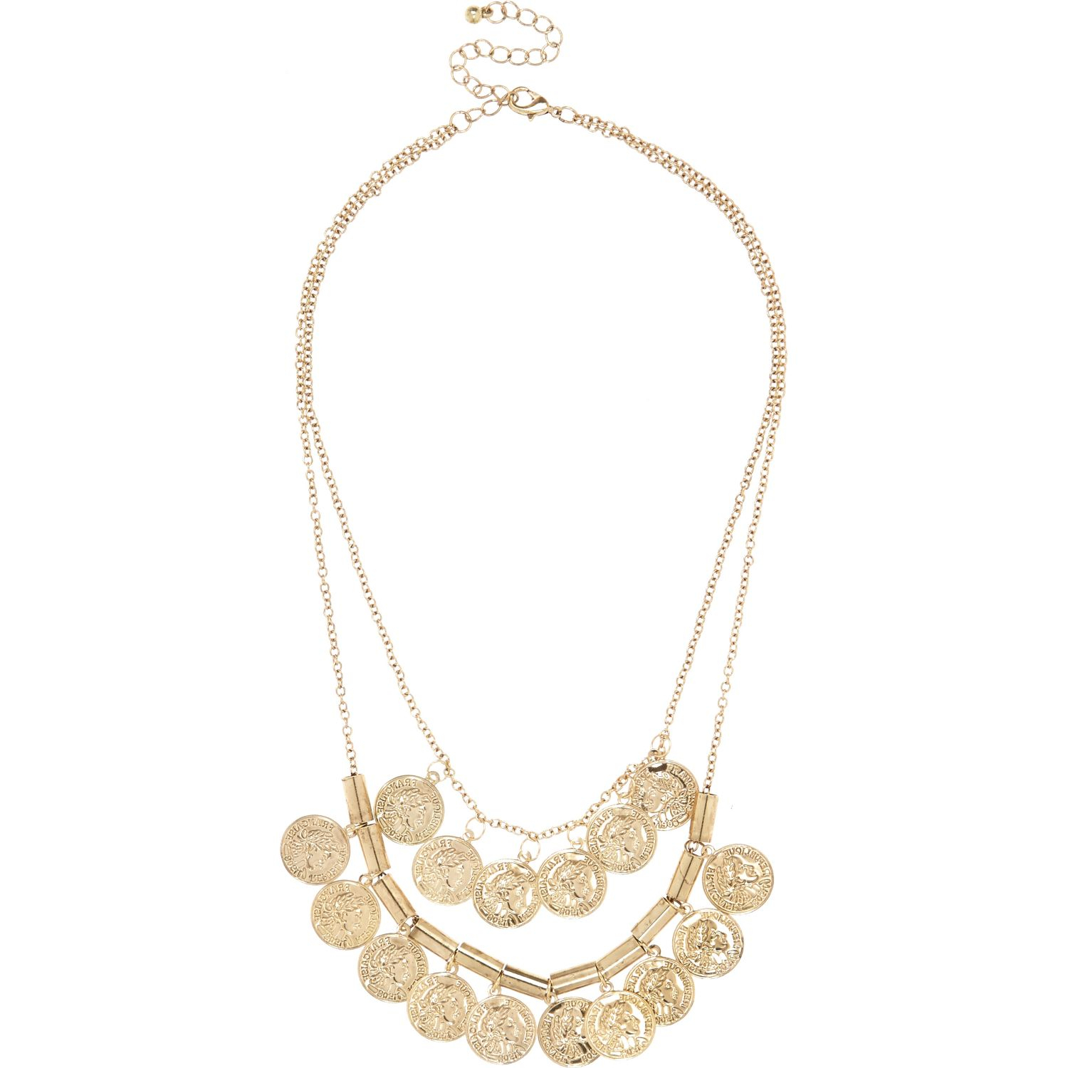 River Island Gold Coin Necklace