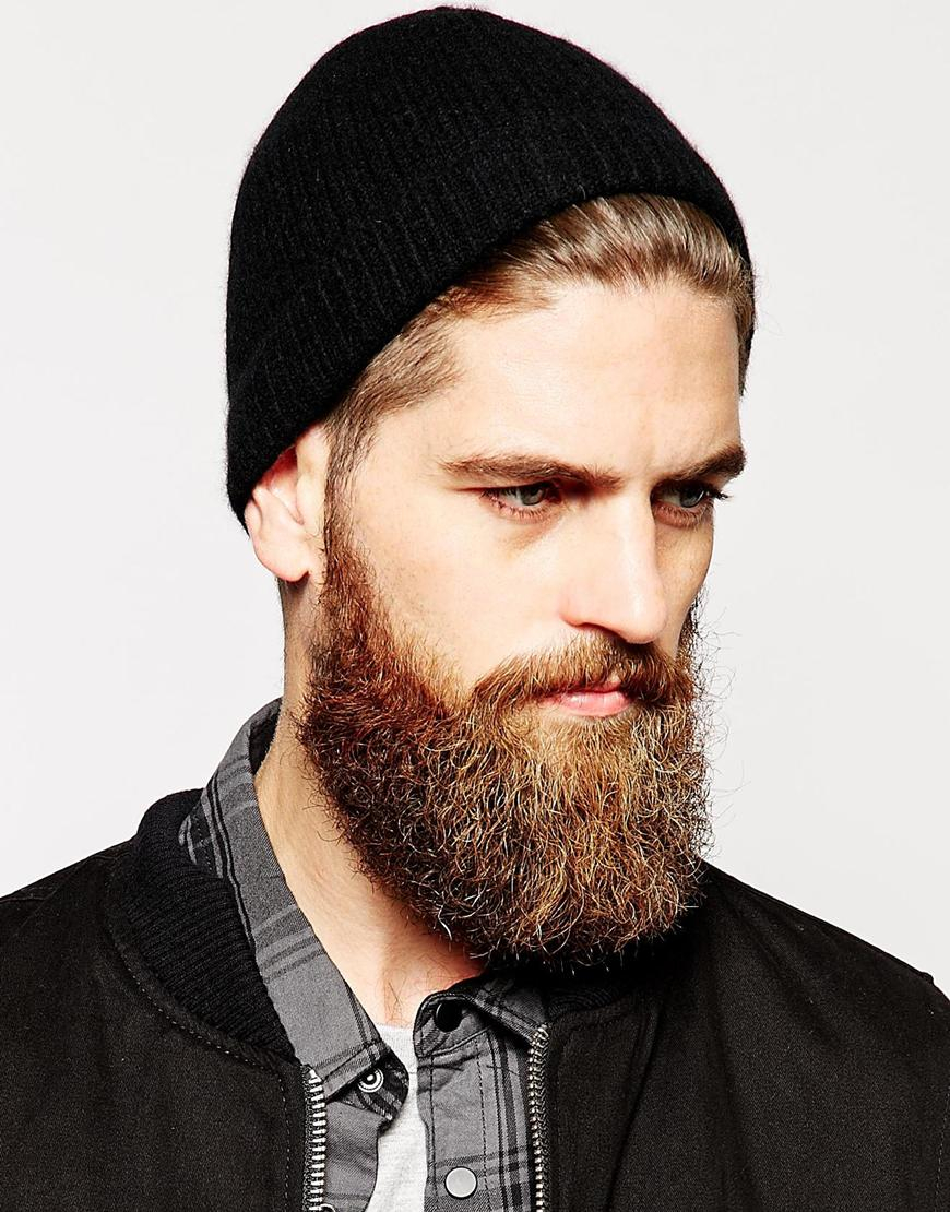 Lyst - ASOS Cashmere Beanie Hat in Black for Men 4f374610635
