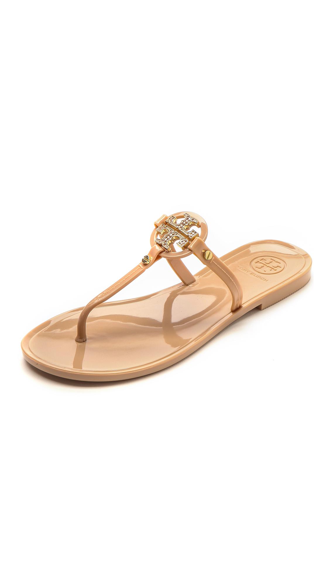 8064eeeb6 Lyst - Tory Burch Mini Miller Flat Thong Sandals - Blush in Pink