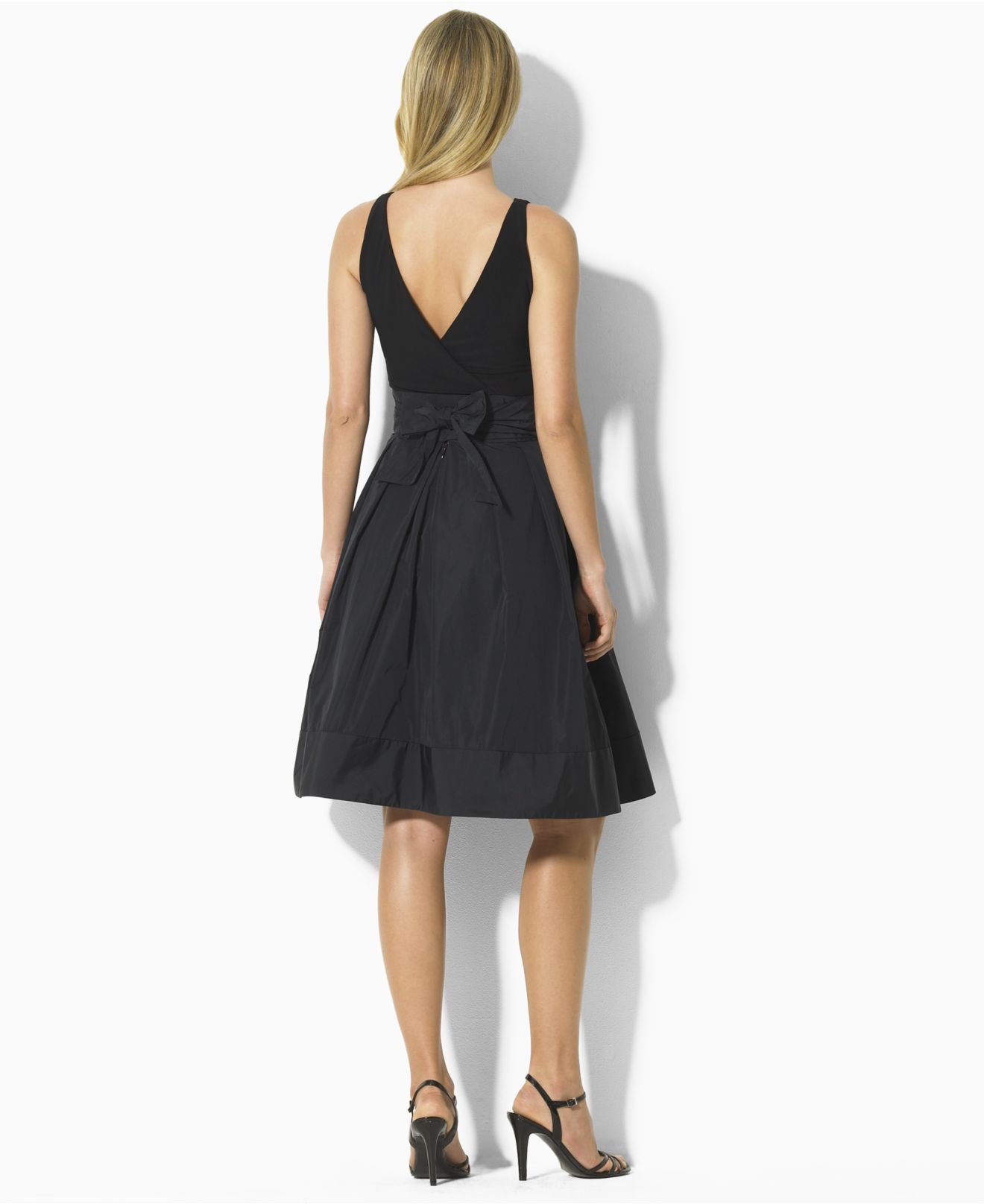 Lyst Lauren By Ralph Lauren Petite Pleated Cocktail