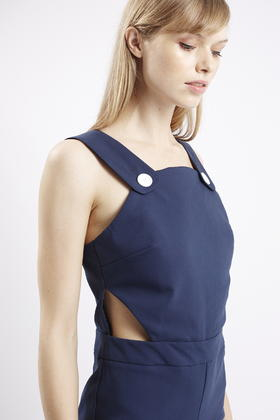 049c01615ce8 Lyst - TOPSHOP Cropped Flare Jumpsuit in Blue