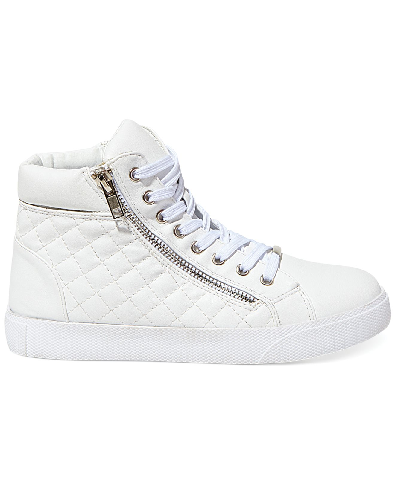 ad39d8f0c73 Lyst - Steve Madden Women S Caffine High Top Quilted Sneakers in White