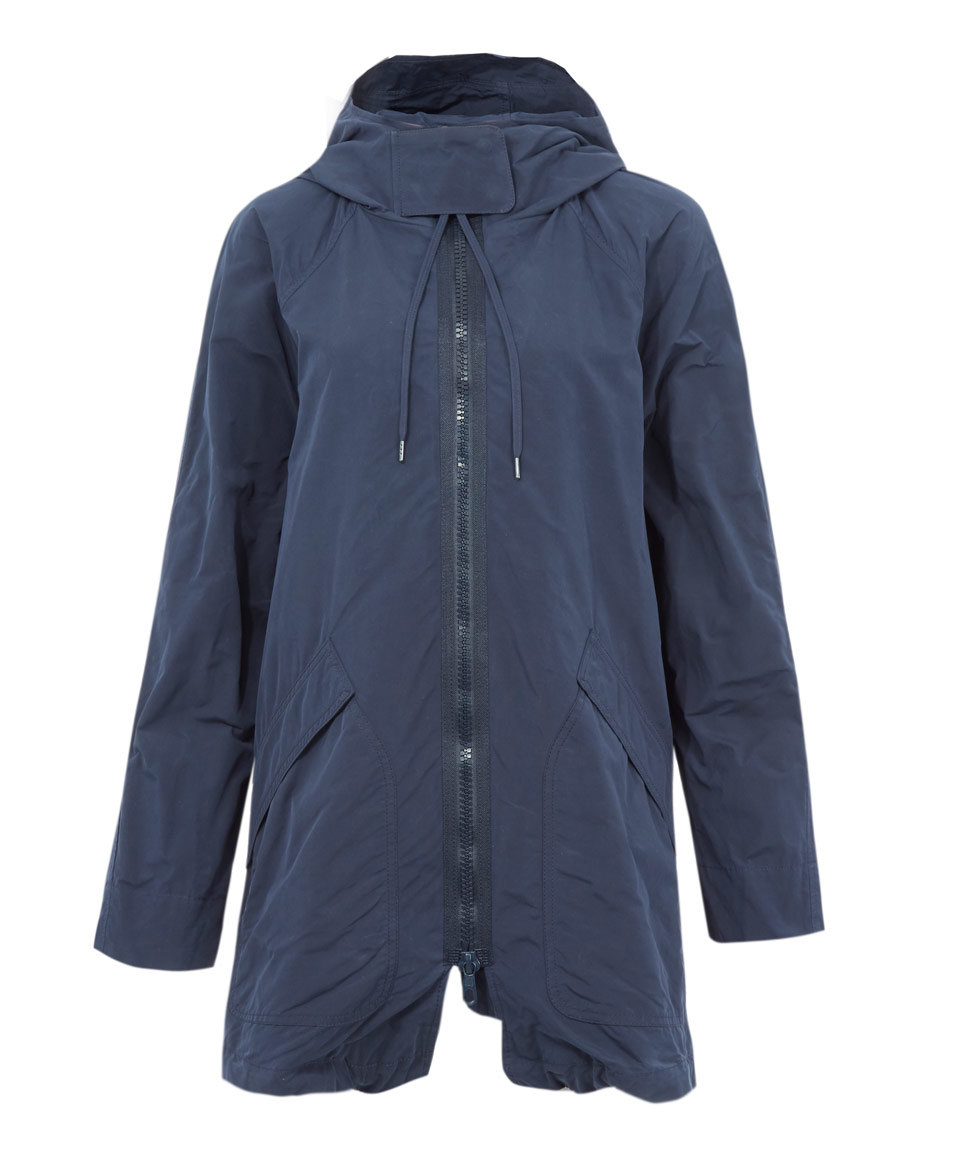 Oska Navy Nabhan Hooded Parka Coat in Blue | Lyst