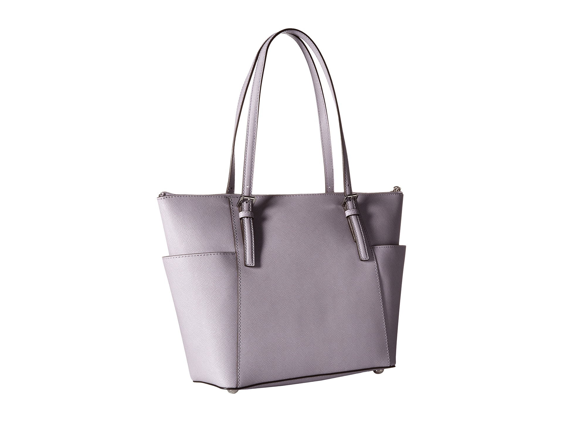 24f3df9b4502 MICHAEL Michael Kors Jet Set Saffiano Top Zip Tote in Purple - Lyst